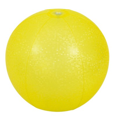 """Pool Central 20"""" Yellow Mosaic Inflatable Beach Ball"""