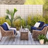Fabron 2pc Outdoor Deep Seating Cushion Set - Navy - Threshold™ - image 4 of 4