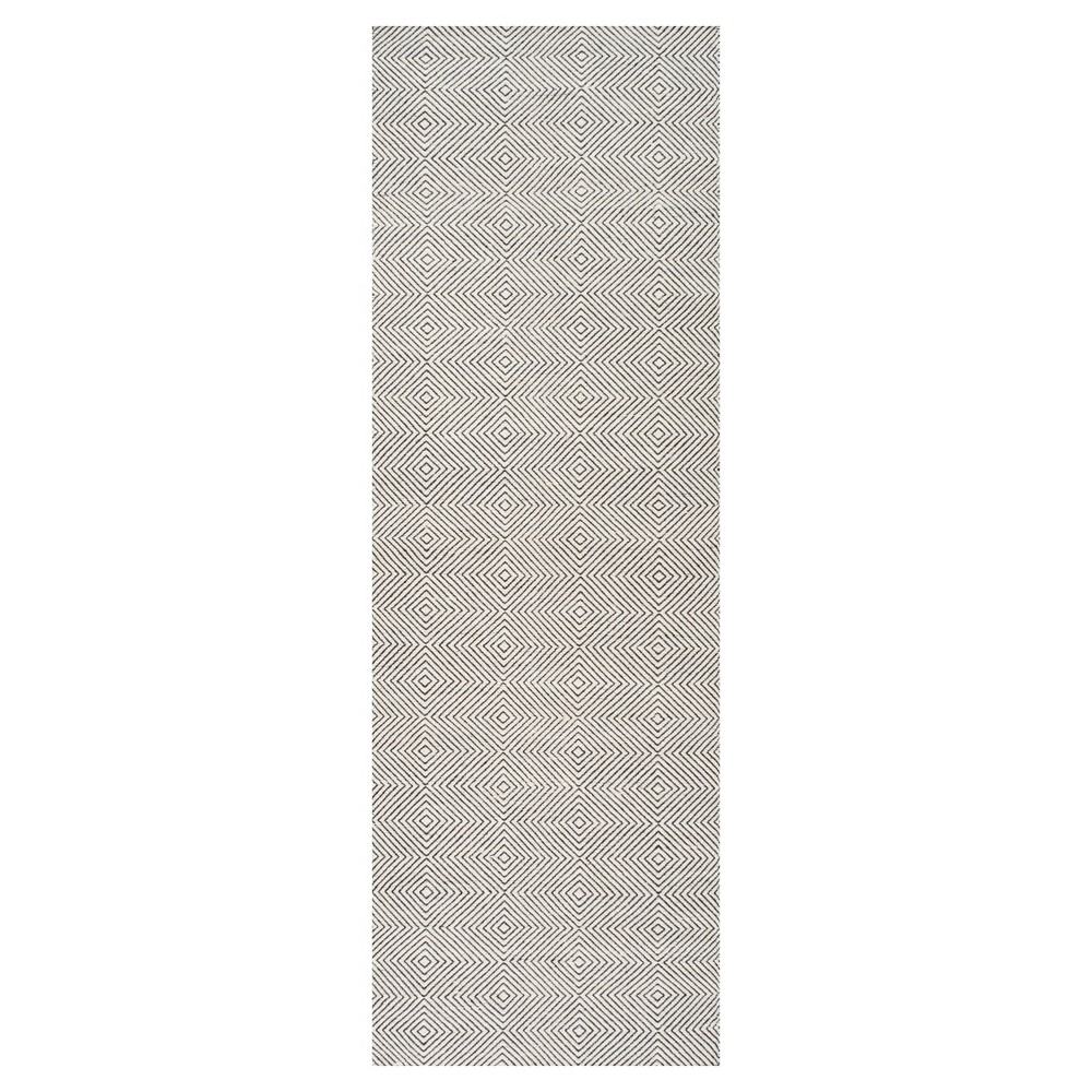 Off White Solid Tufted Runner - (2'6x8') - nuLOOM, Ivory