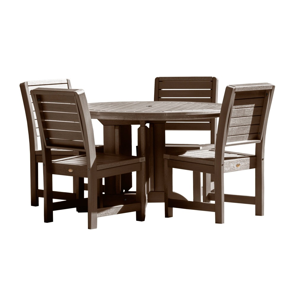 Weatherly 5pc Round Dining Set Weathered Acorn - Highwood