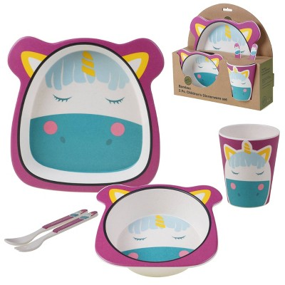 5pc Bamboo Unicorn Children's Dinnerware Set - Certified International