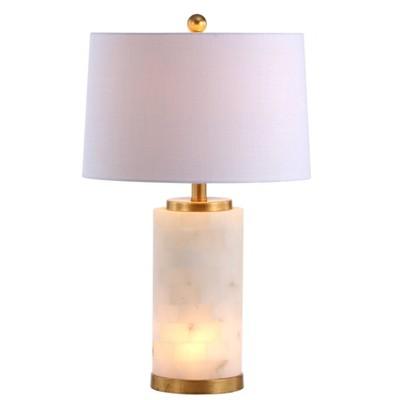 "25.5"" Alabaster Eliza Table Lamp (Includes LED Light Bulb)White - JONATHAN Y"