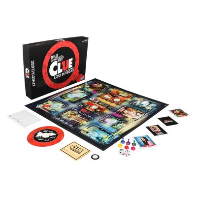 Clue Lost in Vegas Board Game Adult Party Game Parody of the Classic Whodunnit Mystery Game