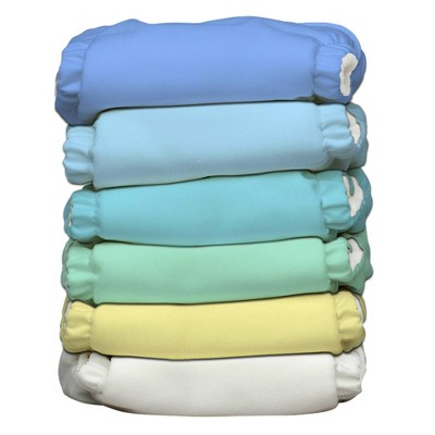 Charlie Banana Reusable All-in-One Diaper 6pk - (Select Color)