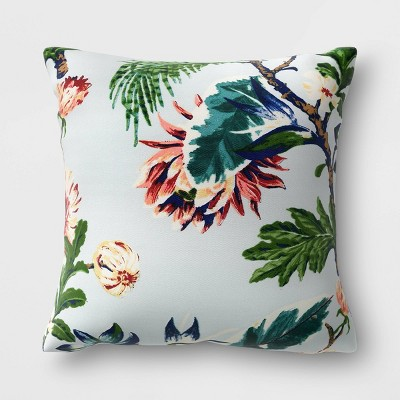 Floral Outdoor Throw Pillow Blue - Threshold™