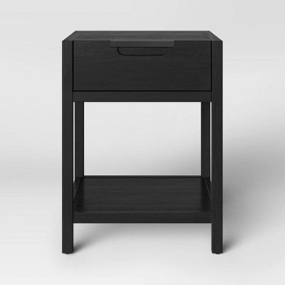Porto Wood End Table with Drawer Black - Project 62™