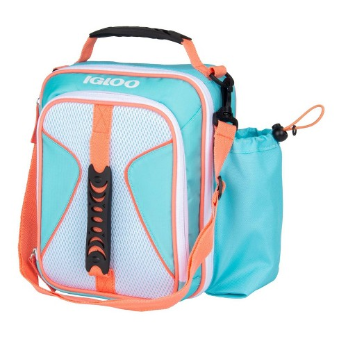 Igloo Hot Brights Air Mesh Vertical Lunch Bag - Turquoise/Coral - image 1 of 9
