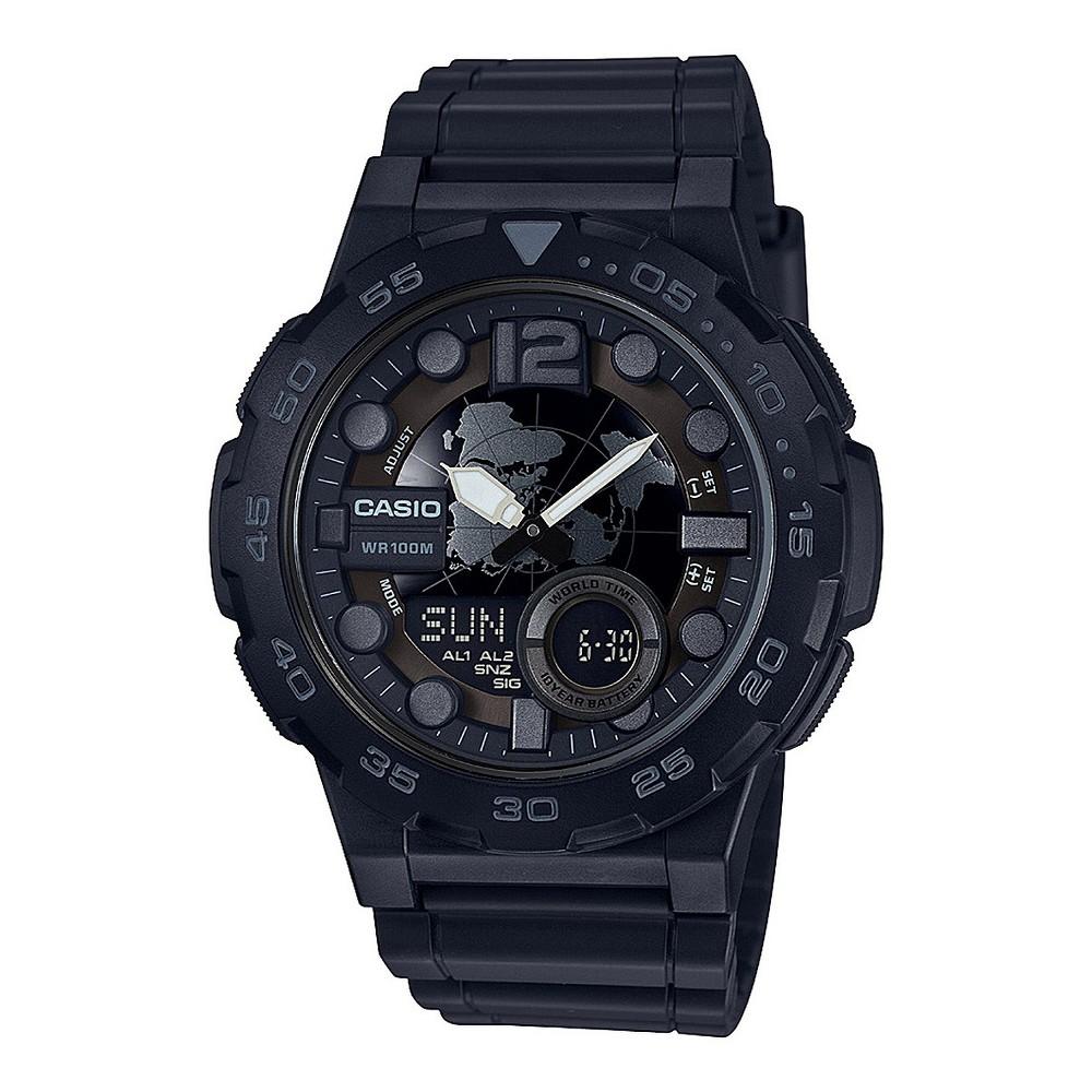 Image of Casio Men's Analog Digital Resin Sport Watch - Black, Size: Small