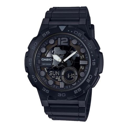 09cc92342 Casio Men's Analog Digital Resin Sport Watch - Black : Target