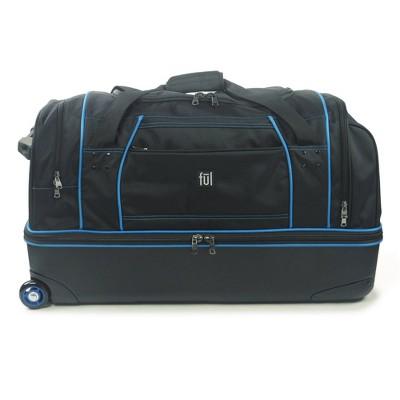 "FUL Workhorse 30"" Rolling Duffel Bag - Black And Blue"