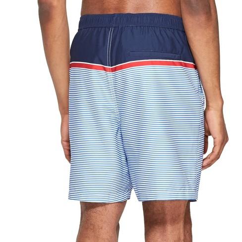 b42f3beff5 Men's Striped Swim Trunks - Navy/Red M - Vineyard Vines® For Target : Target