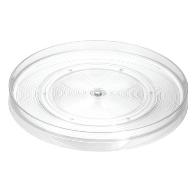 InterDesign Linus Lazy Susan Turntable Large Clear