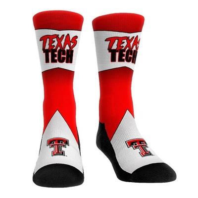 NCAA Texas Tech Red Raiders Adult Battle Call Crew Socks - L/XL