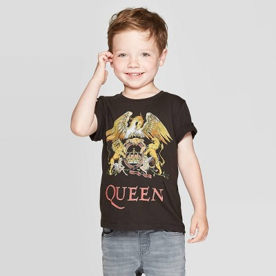 Toddler Boys' Queen Short Sleeve T-Shirt - Black