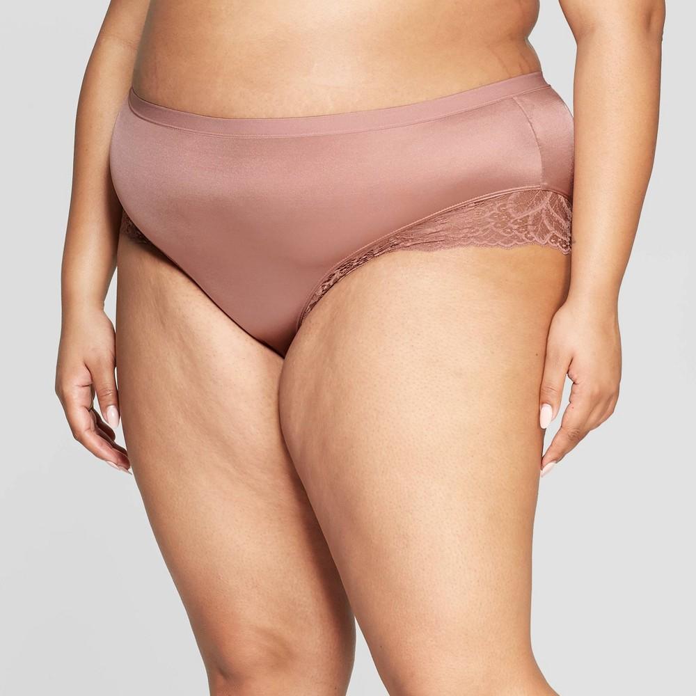 c15ada7abd5 Womens Plus Size Micro Briefs with Lace Trim Auden Mauve Pink 1X