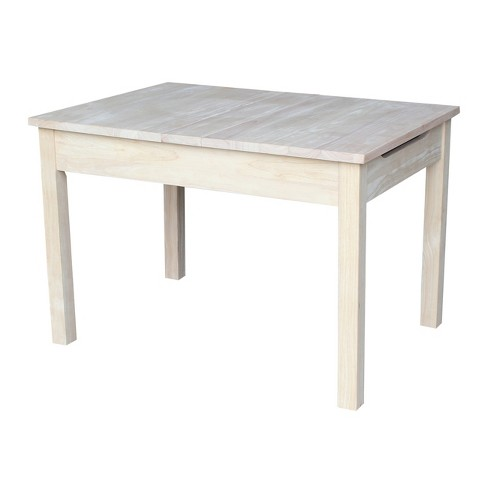 Table with Lift Up Top For Storage - International Concepts - image 1 of 4