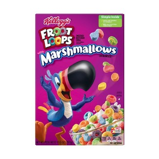 Fruit Loops with Fruity Shaped Marshmallows Breakfast Cereal - 10.5oz - Kelloggs