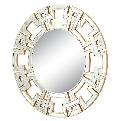 Kaydence Round Decorative Wall Mirror Gold - Abbyson Living