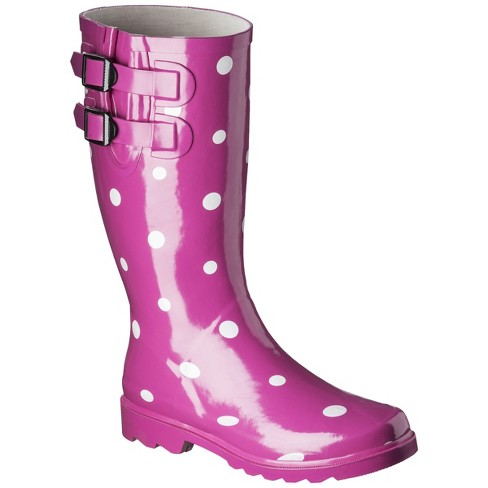 Women's Novel Dot Rain Boots - image 1 of 3
