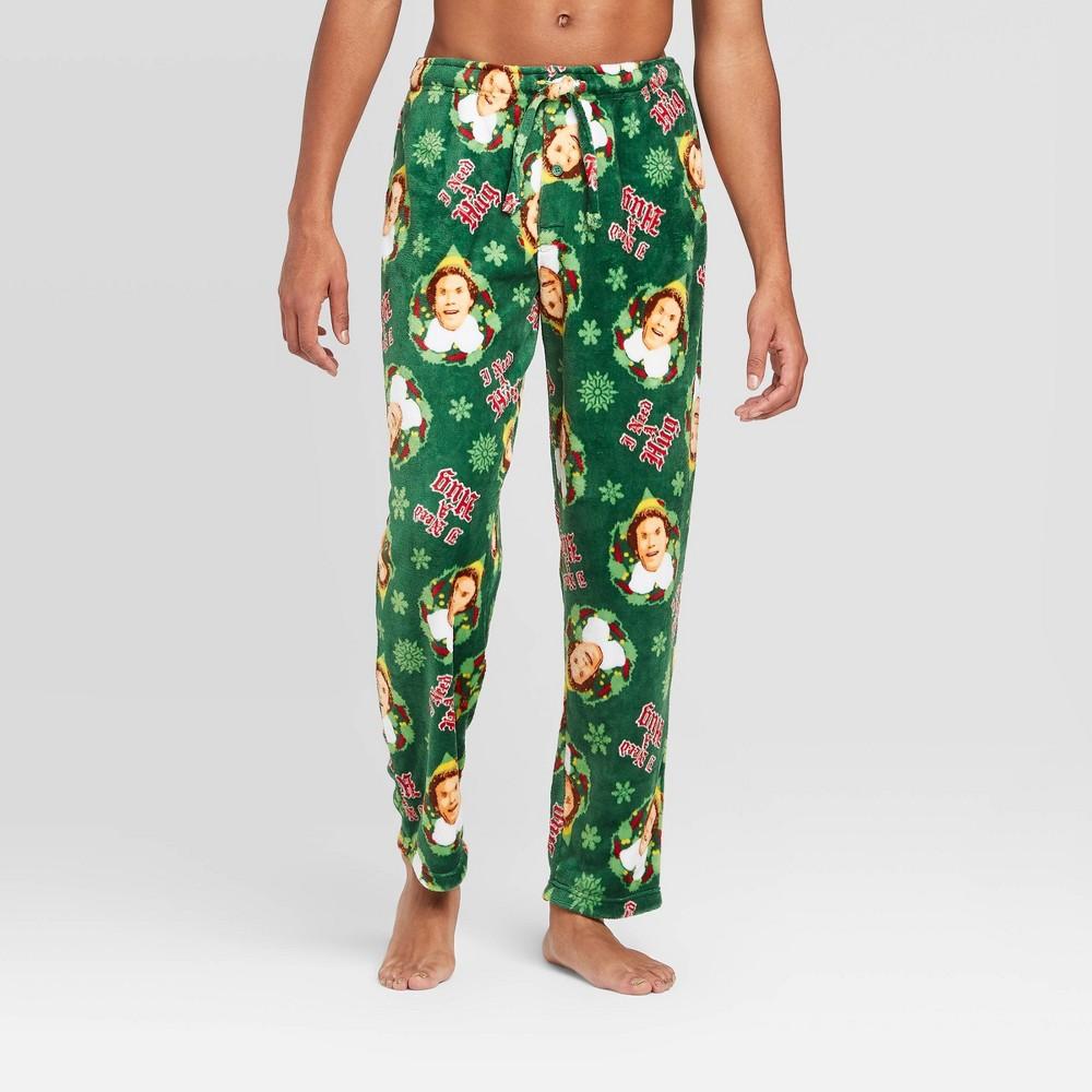 Image of Men's Elf Pajama Pants - Green L, Men's, Size: Large