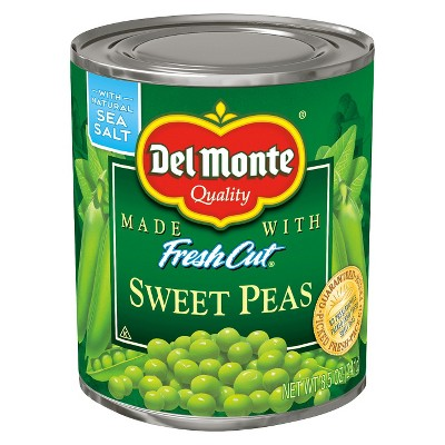 Canned Vegetables: Del Monte Sweet Peas