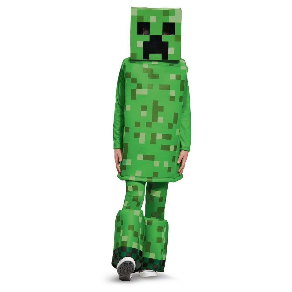 Image of Halloween Boys' Minecraft Creeper Prestige Child Costume Large, Boy's, MultiColored