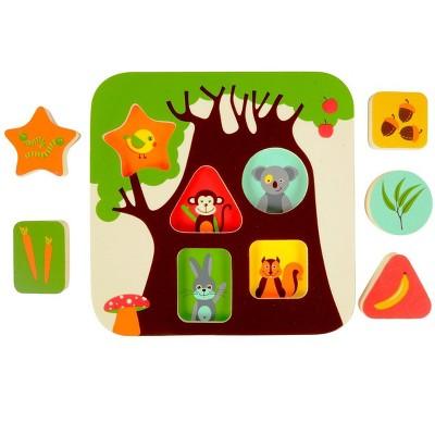 Edushape Infant and Toddler Treehouse Puzzle - 6 Pcs