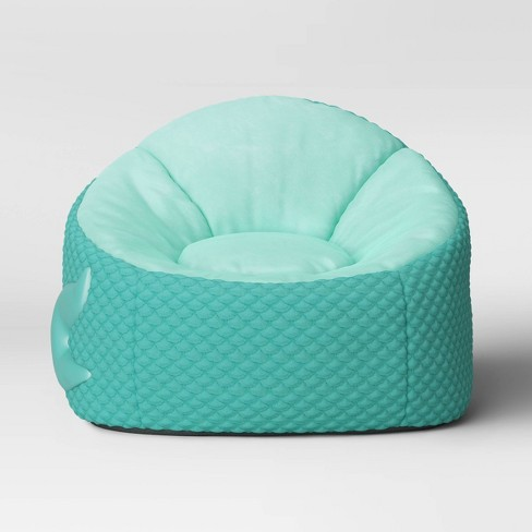 Pleasing Kids Character Bean Bag Chair Mermaid Aqua Pillowfort Gmtry Best Dining Table And Chair Ideas Images Gmtryco