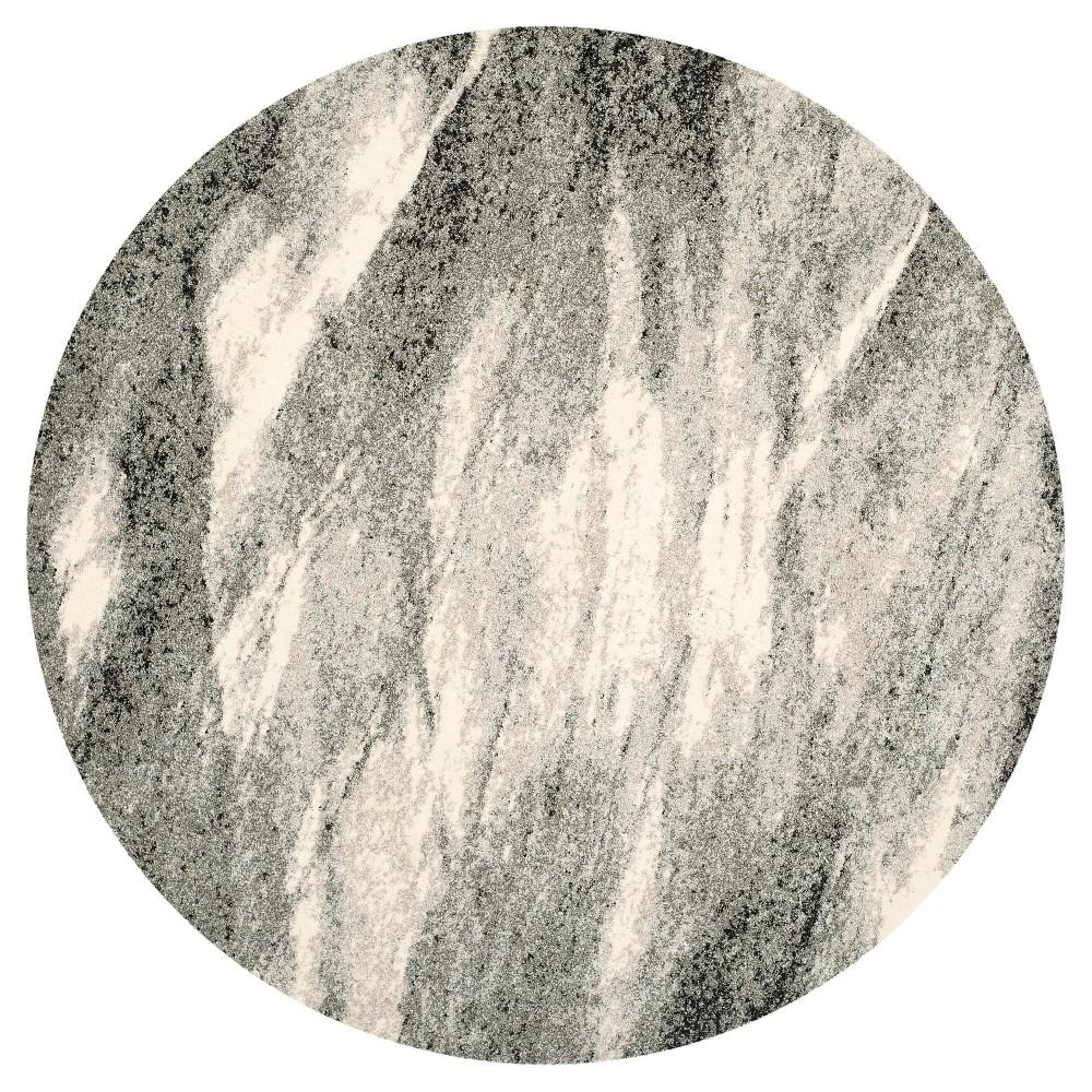 Kenzie Area Rug - Gray / Ivory ( 6' X 6' Round ) - Safavieh