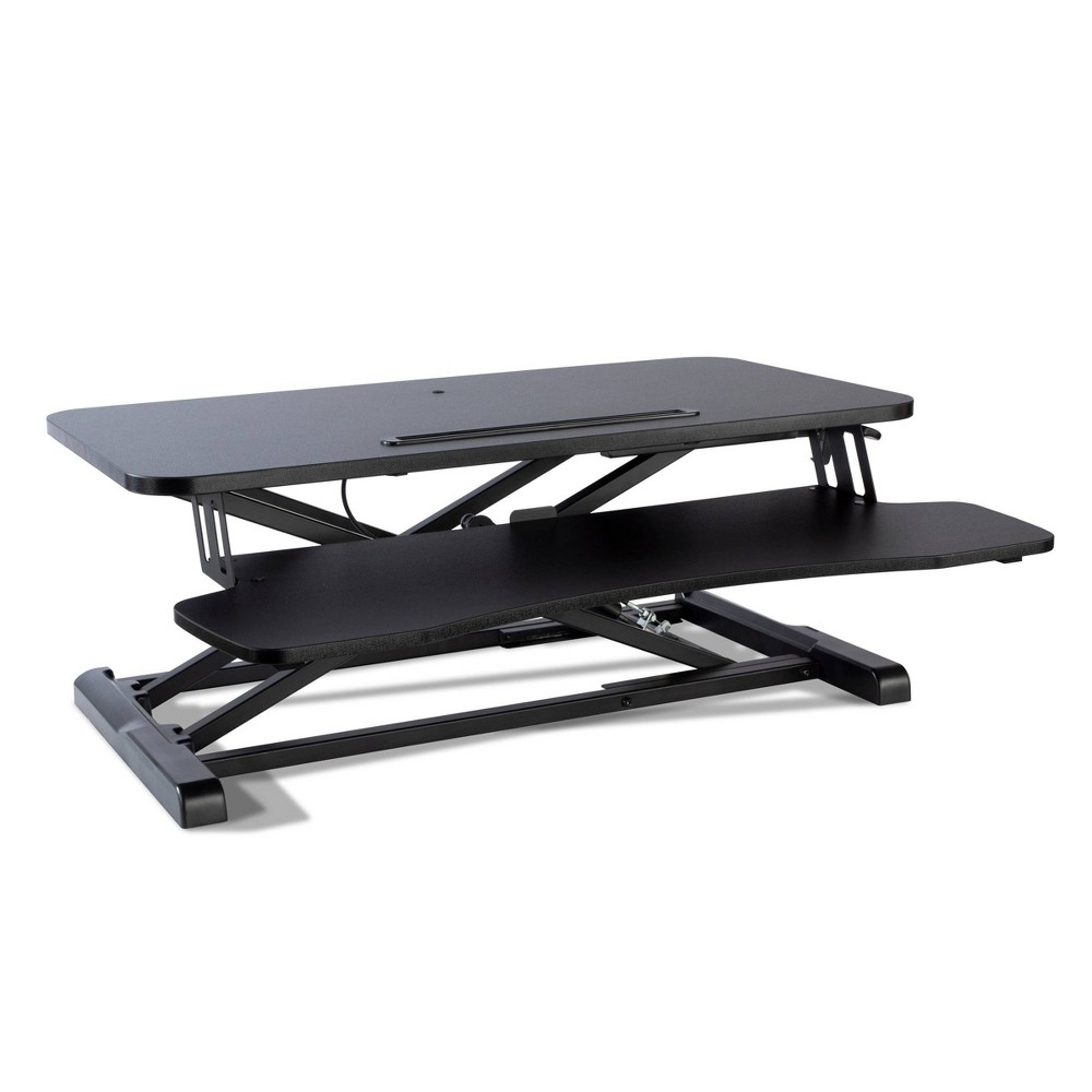 Image of Adjustable Height Large Standing Desk Black - Atlantic