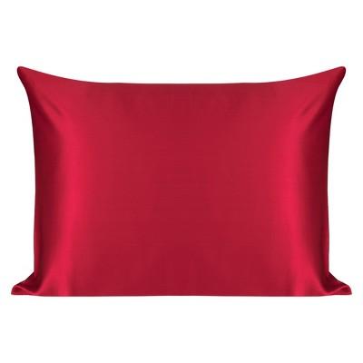 1 Pc Standard 100% Natural Silk for Hair and Skin Pillowcase Red - PiccoCasa