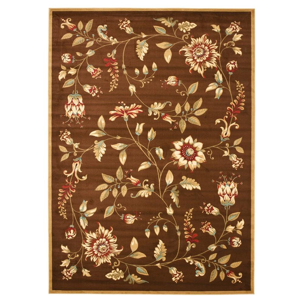 Brown Floral Loomed Area Rug 8'9X12' - Safavieh