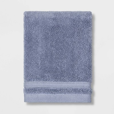 Performance Washcloth Solid Water Blue - Threshold™