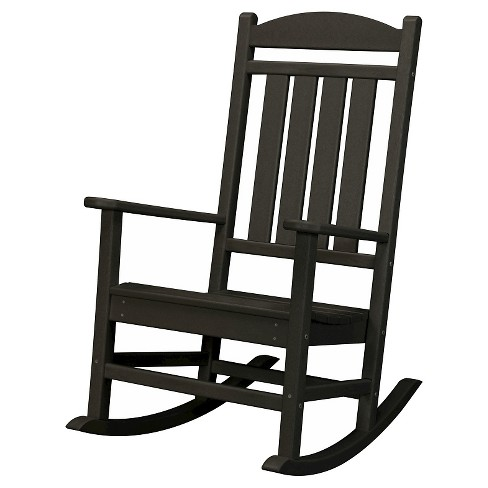 Outdoor All-Weather Pineapple Cay Porch Rocker - Black - Hanover - image 1 of 2