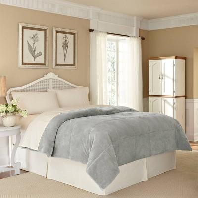 King PlushLux Bed Blanket Light Gray - Vellux