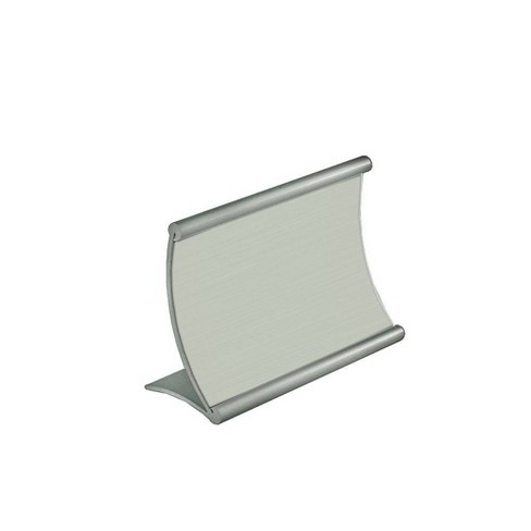 """Azar Displays 6"""" X 4"""" Curved Metal Counter Sign Holder - image 1 of 1"""