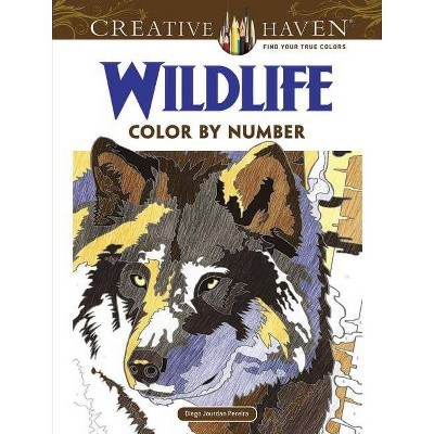 Creative Haven Wildlife Color By Number Coloring Book - (creative Haven Coloring  Books) By Diego Jourdan Pereira (paperback) : Target