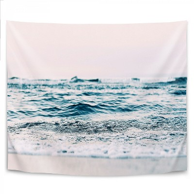 Ocean Wave Blush by Sisi and Seb Wall Tapestry