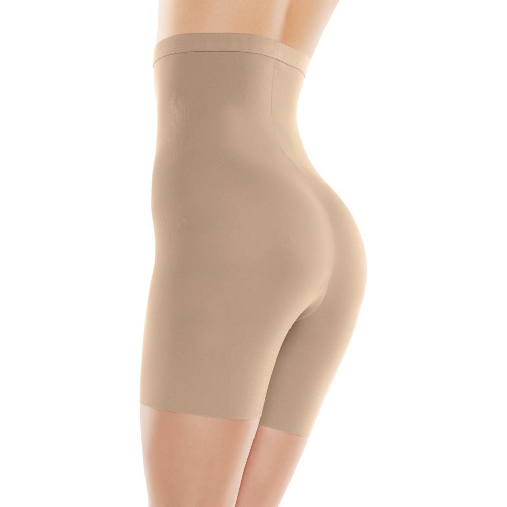 Assets by Spanx Women's High-Waist Mid-Thigh Super Control Shaper - Tan 2