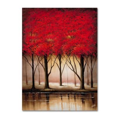 "24"" x 32"" Serenade in Red by Rio - Trademark Fine Art"
