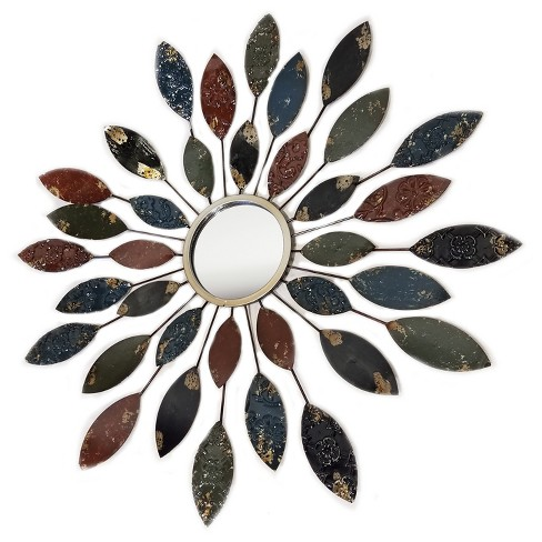 Wall Mirror- Various Length in Leaves - Home Source - image 1 of 2