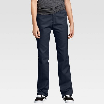 Dickies® Girls' Flex Slim Fit Straight Leg Flat Front Pants