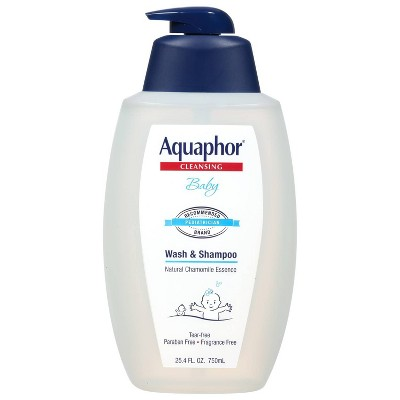 Aquaphor Baby Wash and Shampoo - Tear-free and Mild for Sensitive Skin - 24.5oz. Pump Bottle