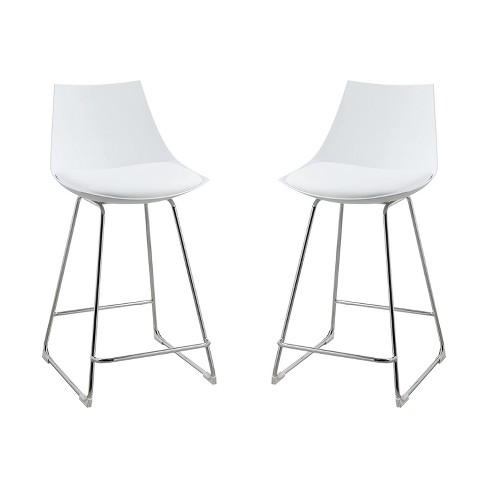 Wallace Bay 24 Inch Neo White Plastic, 24 Inch Height Dining Chairs