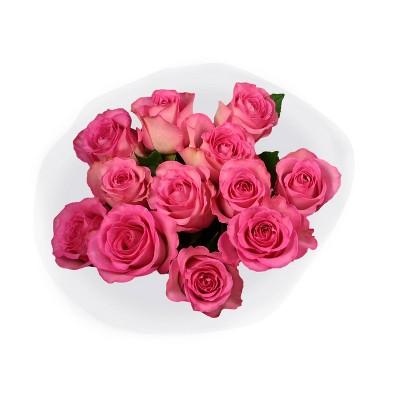 Fresh Cut Pink Roses - 12ct
