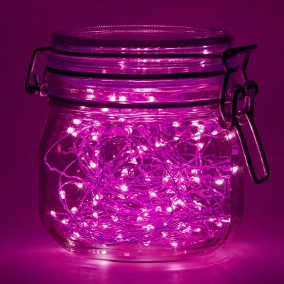 14' 2ct Submersible LED Mini Fairy String Lights Pink
