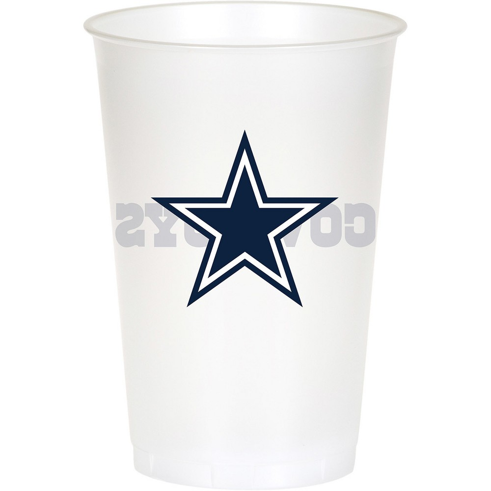 8ct Dallas Cowboys Plastic Cups, Multi-Colored