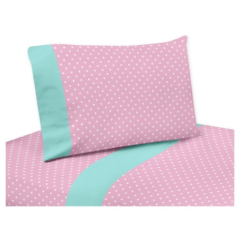 Turquoise & Pink Sheet Set (Queen) - Sweet Jojo Designs® - image 1 of 1