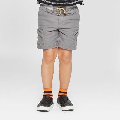 Toddler Boys' Genuine Kids from OshKosh® Canvas Cargo Shorts - Gray 12 M