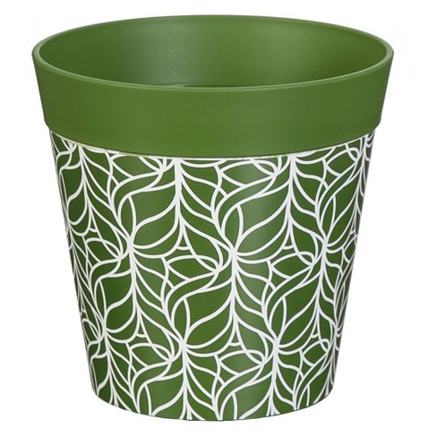 "6""H Polypropylene Planter - Green - Evergreen - image 1 of 2"